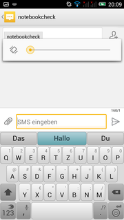 An alternative keyboard is provided: Swype. It allows the user to type without lifting their finger.