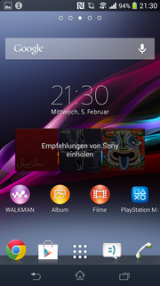 ...that of the Xperia Z1. Of course, bloatware is also pre-loaded.