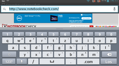 The keyboard takes up a lot of room in landscape mode.