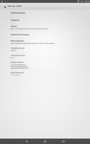 Google Android 4.4.2 is preinstalled.