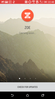 Unfortunately, the Zoe app is not yet finished.