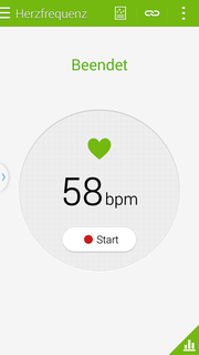 On the back: a heart rate sensor, which works quite well.
