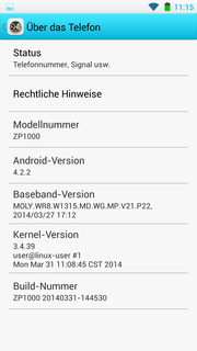 Android 4.2.2 is pre-loaded.