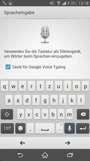 Voice commands are possible as well, ...