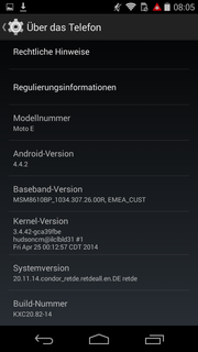 Android 4.4.2! That's the most recent version of Google's OS.