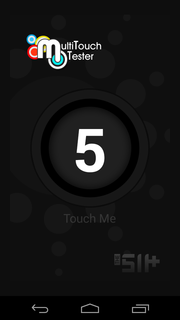 The display supports 5-finger multi-touch.