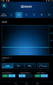 The Dolby software offers several presets, which change the sound significantly.