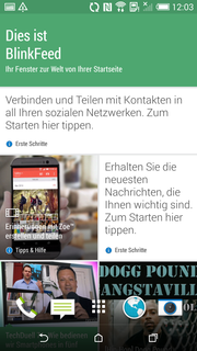 BlinkFeed also pleases with its design, and how it displays news from the Internet and social media.
