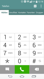 Telephone app of the LG G3
