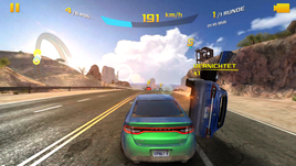To play Asphalt 8, we had to reduce the details to medium.