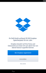 One year of 20 GB Dropbox storage is included.