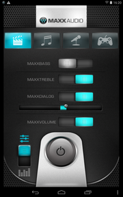 The MaxxAudio software primarily improves the quality of external speakers.