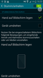 More gestures: If you are annoyed by the ringtone, you can just put your hand on the display to silence it.