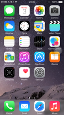 The Home screen looks innocent enough with the standard set of pre-installed apps