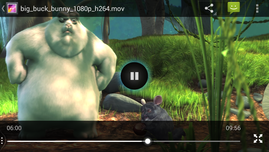 Smooth playback of 1080p .mov files. The popular .mkv files are not recognized
