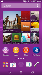 Sony only slightly changed the user interface, but the changes are noble.