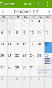 "The calendar called ""S Planner"" includes a lot of features."