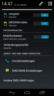 The Motorola Moto G2 can handle two SIM cards at the same time.