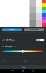 The color temperature, for example.
