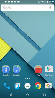 The operating system is an unchanged version of Android 5.0.1.