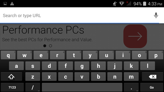Basic Android keyboard with no extra features