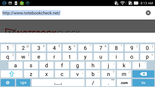 Essentially the same keyboard skin and interface of the larger ZenFones