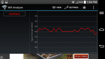 LG G2 WiFi Signal ~10 m from source