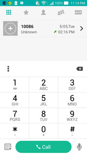 Standard phone number pad
