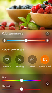 Multiple display color modes and customization