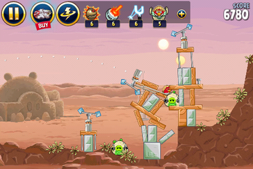 Angry Birds: Star Wars runs without major problems.