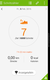 """S Health"" counts steps and reminds the user to move."