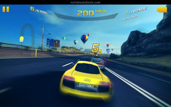 "Sophisticated games like ""Asphalt 8: Airborne"" are no problem for the graphics card."