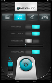 The MAXX audio software allows the user to tweak the sound settings.