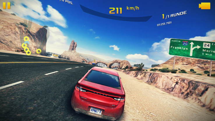 "Virtually always smoothly rendered even in high details during the race: ""Asphalt 8""."
