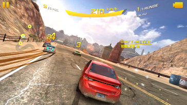 Asphalt 8 only runs smoothly at the lowest settings.