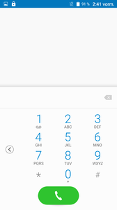 Dialpad, single-handed use