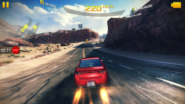 """Asphalt 8"": Lag-free subjectively, but very low frame rates"