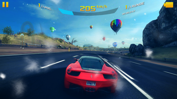 ... and even more demanding titles like Asphalt 8: Airborne run well in medium details.