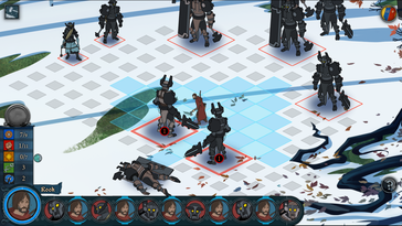 The control elements are pretty small in strategic titles like Banner Saga 2.