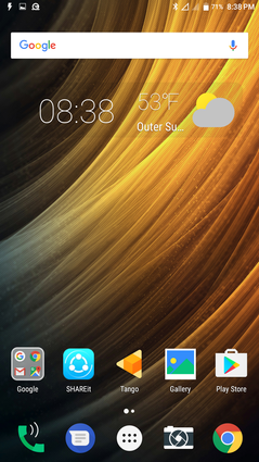 Android 6.0.1 default Home screen