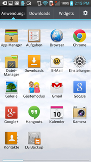 Several apps are preloaded