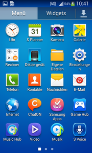 Samsung has installed a lot of apps on their device.