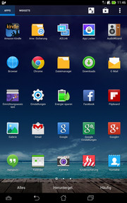 Numerous apps are preinstalled.