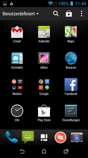 Many apps are preloaded.