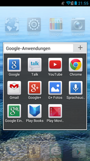 Several Google apps are preloaded.