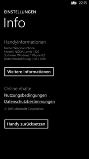 Nokia's Lumia 1320 is powered by the latest version of Windows Phone 8 (Update 3).