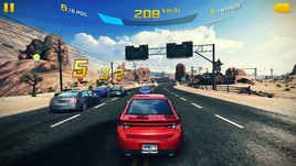 Even top titles like Asphalt 8 can be played smoothly on the Asus smartphone.