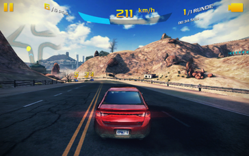 Smooth running only functions with reduced graphics details in demanding games like Asphalt 8.