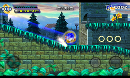 Despite the rather slow dual-core SoC, basic games like Sonic 4 Episode II...