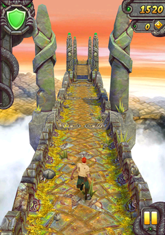 No challenge: Every game runs smoothly, starting with the simple Temple Run 2 ...